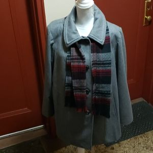 Tower by London Fog Jacket With Scarf Size XL